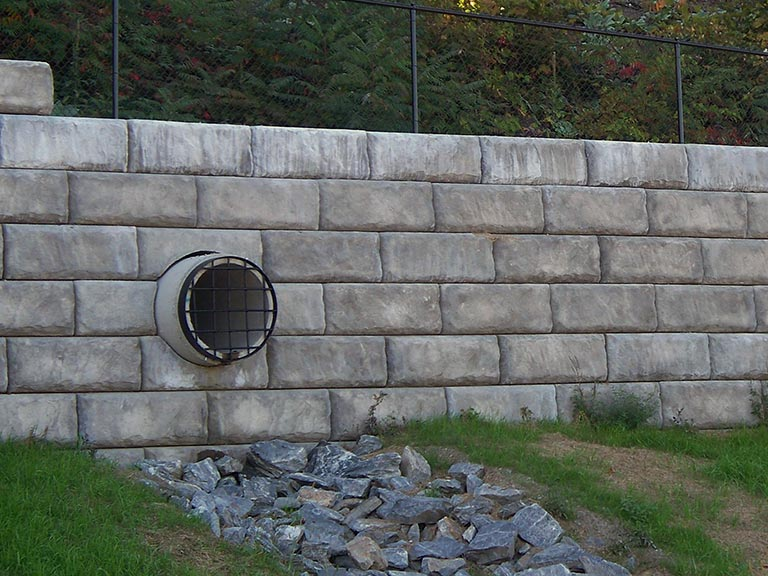Block Retaining Wall Tie Backs : Construction maine concrete supplier ready mix walls